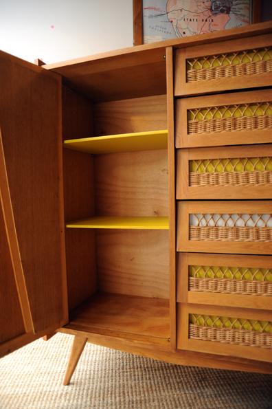 armoire rotin laurette l 39 atelier de niguedouille. Black Bedroom Furniture Sets. Home Design Ideas